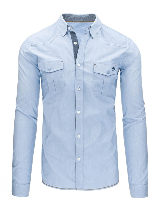 8b4a50b380 Elegáns halvány kék férfi ing - Dressing.hu