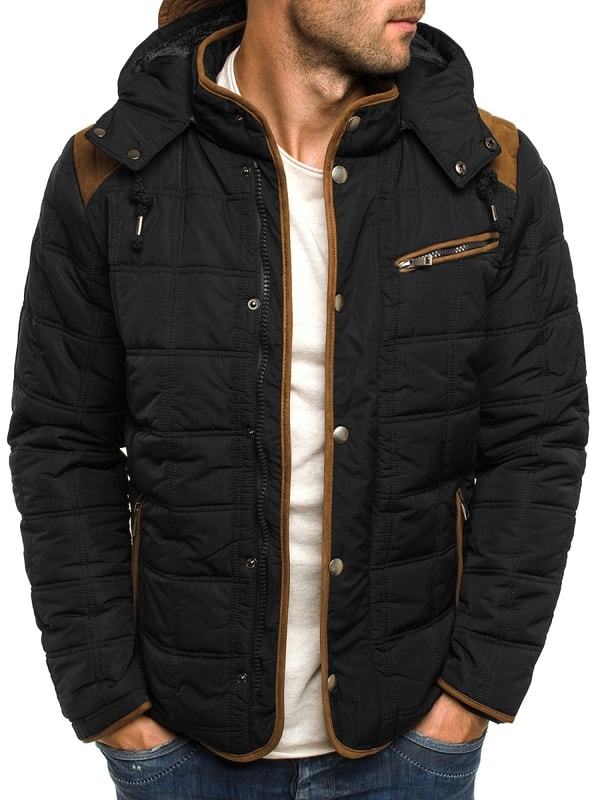 Fekete steppelt férfi kabát J.STYLE 3087 - Dressing.hu c8d2c602c7